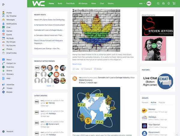 Weedclique Newsfeed